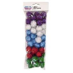 U-Do Pom Poms Glitter 50 Pack