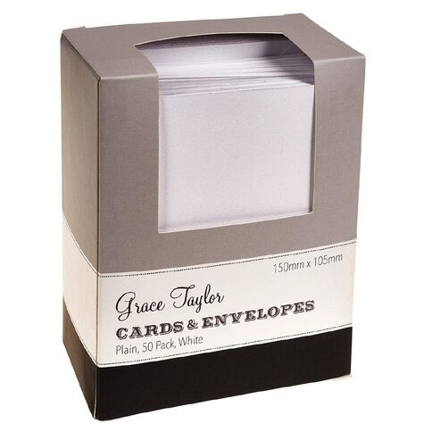 Grants Cards & Envelopes 50 Pack White