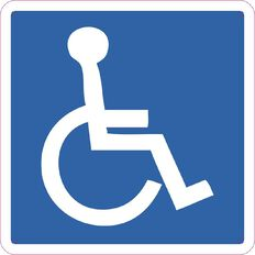 WS Wheelchair Sign Small 300mm x 300mm