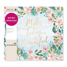 Craft Smith Album Make Today Beautiful 12in x 12in
