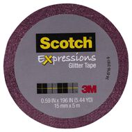 Scotch Craft Glitter Tape 15mm x 5m Hot Pink