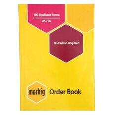 Marbig Order Book Duplicate 100 Leaf Yellow A5