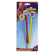 Spider-Man Pencils With Eraser Topper 3 Pack