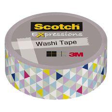 Scotch Washi Craft Tape 15mm x 10m Pastel Triangles