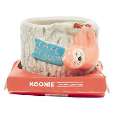 Kookie Novelty19 Sloth Ceramic Storage