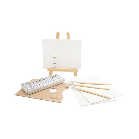 Uniti Art Set Mini Table Easel 21 Piece