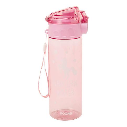 Kookie Unicorn Drink Bottle 600ml Pink