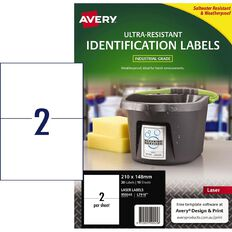 Avery Ultra-Resistant Outdoor Labels White 20 Labels