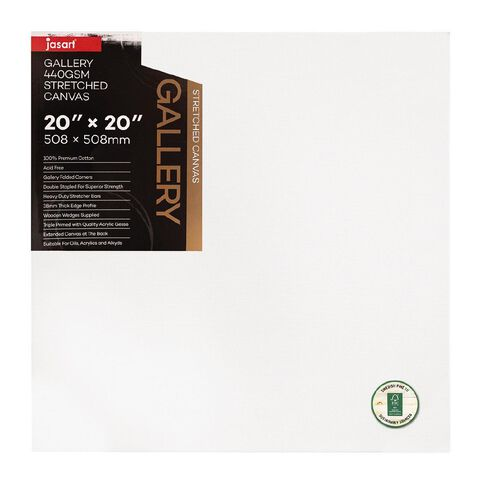 Jasart Gallery 1.5 inch Thick Edge Canvas 20x20 inches FSC MIX