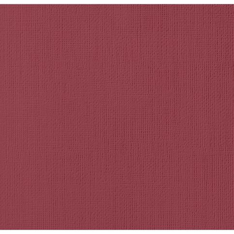 American Crafts Cardstock Textured Pomegranate 12in x 12in
