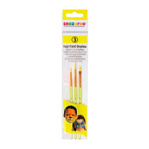 Snazaroo Face Painting Brush Set 3 Pack Multi-Coloured