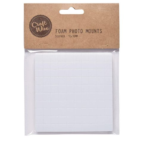 Craftwise Photo Mounts 500 Pack White 500 Pack