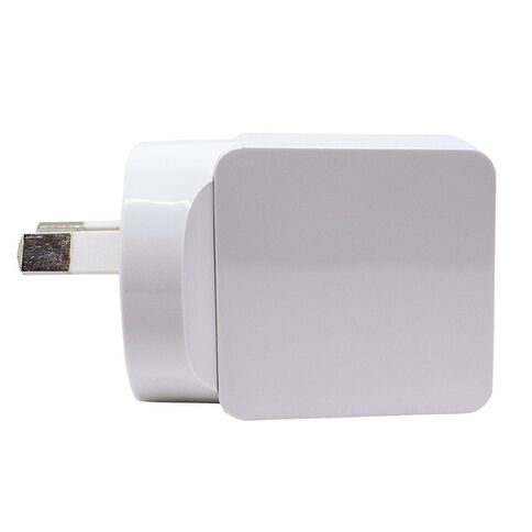 H+O USB Single 2.4A Wall Charger White