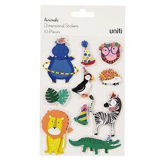 Uniti Dimensional Stickers Animals