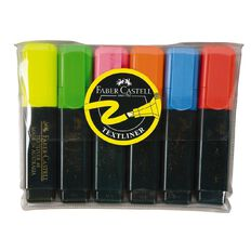 Faber-Castell Highlighter 6 Pack Assorted