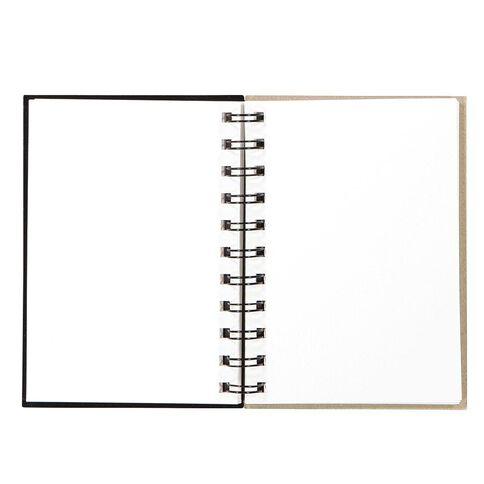 Uniti Visual Diary Spiral 110gsm 60 sheet Black A6