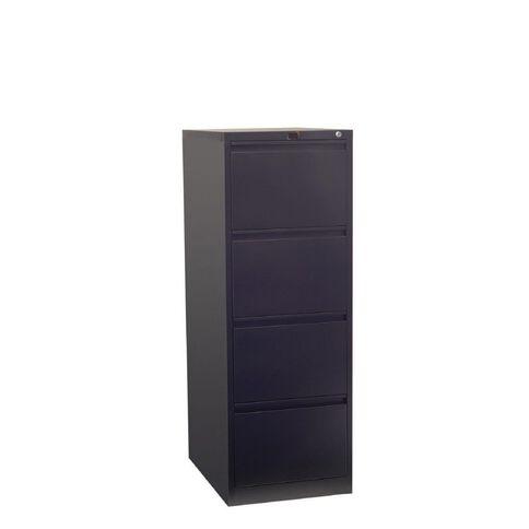 Workspace Filing Cabinet 4 Drawer Black