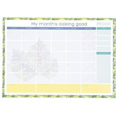 Desk Pad 20 Sheets Monthly Wellness A3