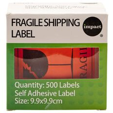 Impact Fragile Shipping Label Roll Of 500
