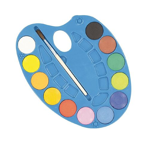 Kookie Watercolour Tablet 12 Pack Multi-Coloured