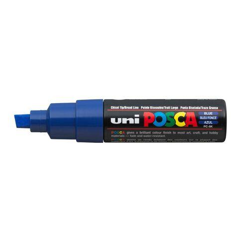 Uni Posca Marker Bullet Tip Bold Chisel 8mm Blue