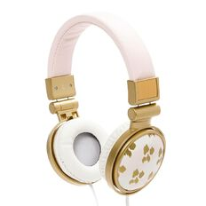 Headphones Pastel Geo Stripe Pink