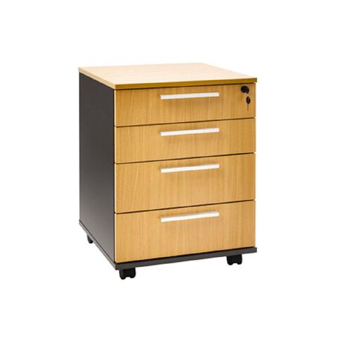 Jasper J Emerge Mobile 4 Drawer Beech/Ironstone