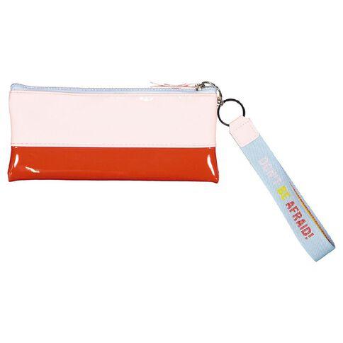 Uniti Fun & FunkyQ2 PU Flat Pencil Case Red & Pink