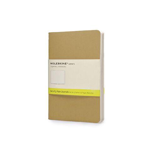 Moleskine Cahier Notebook Unruled Kraft 3 Pack