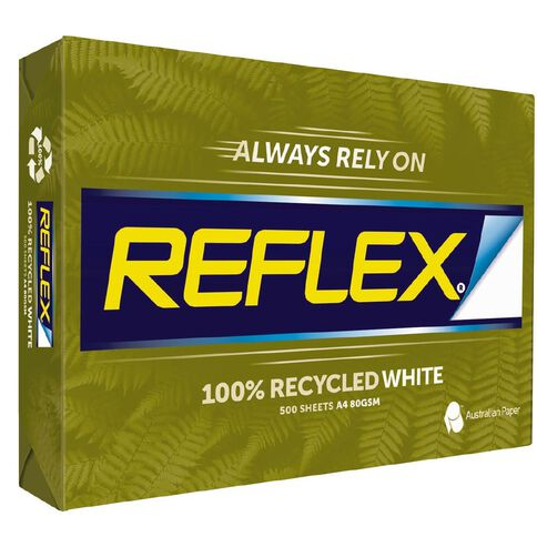 Reflex Photocopy Paper 100% Recycled Inkwise 80gsm 500 Pack