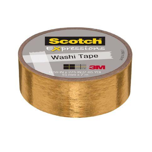 Scotch Washi Tape 15mm x 7m Foil Gold