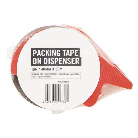 WS Packaging Tape on Dispenser Tan 48mm x 50m
