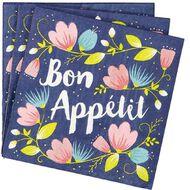 Artwrap Printed Napkins Bon Appetit 2 ply 33cm x 33cm 20 Pack