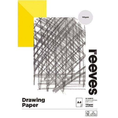 Reeves Drawing Pad 110gsm 50 Sheets A4