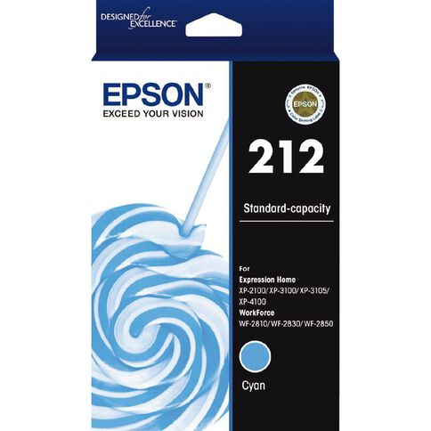 Epson Ink 212 Cyan (130 Pages)