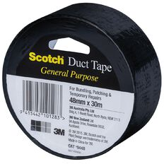 Scotch General Purpose Duct Tape Black 48mm x 30m