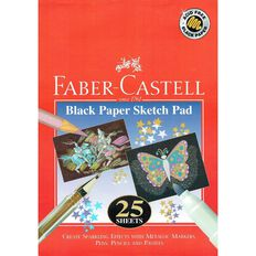 Faber-Castell 25 Page Sketch Pad Black Black