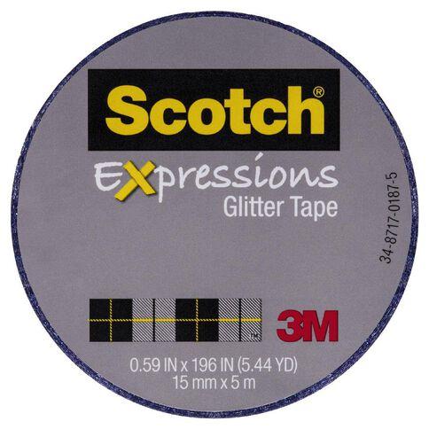 Scotch Craft Glitter Tape 15mm x 5m Dark Blue