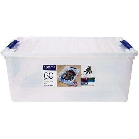Sistema Storage Organiser 60L Clear