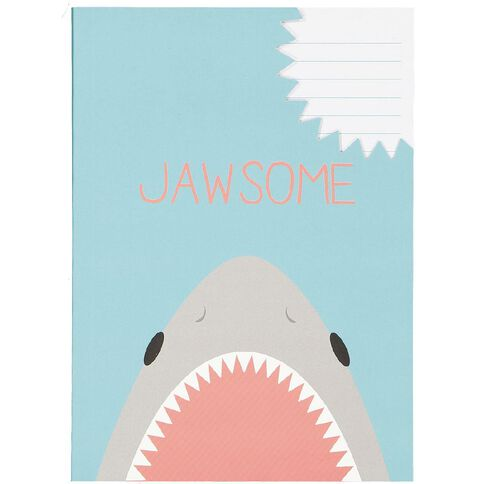 Kookie Sharks Softcover Notebook Jawsome A5