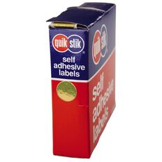 Quik Stik Labels Dots Mc14 650 Pack Gold