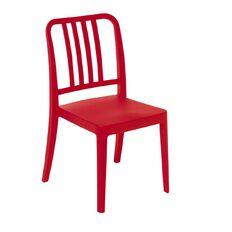 Eden Sailor Indoor/Outdoor Stacker Chair Red