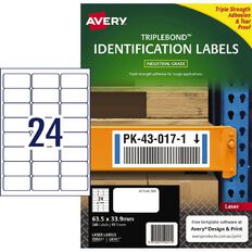 Avery TripleBond Labels White 240 Labels