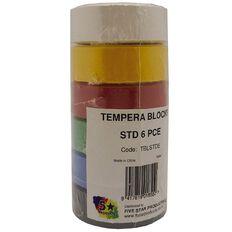 Fivestar Tempera Block Standard Colours set of 6