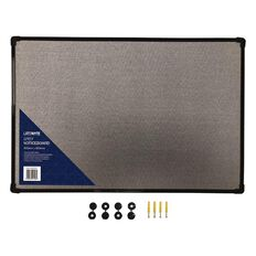 Litewyte Grey Fabric Pinboard 400mm x 600mm