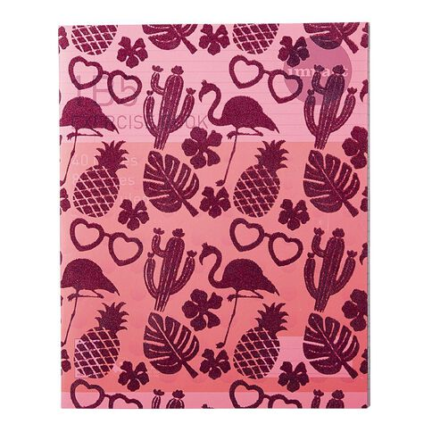 WS Book Cover Flocked Pineapples 45cm x 1m