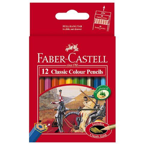 Faber-Castell Classic Colour Pencils Half 12 Pack