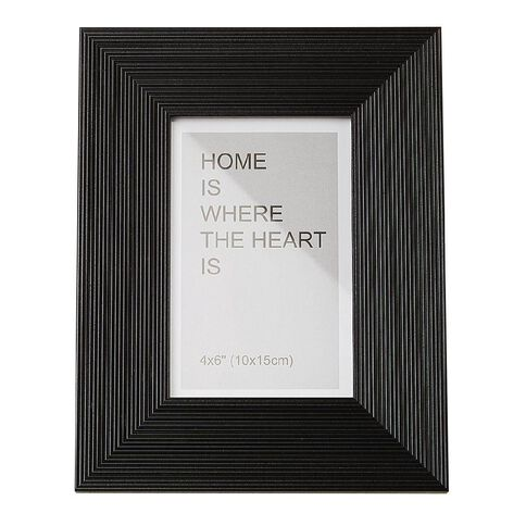 Living & Co Soho Frame 4x6in Black