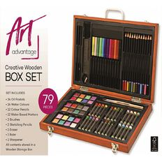 Art Advantage Creative Wooden Box Set 79 Piece
