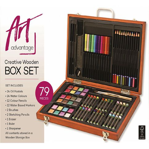 Art Advantage Creative Wooden Box Set 79 Piece